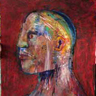 artistic painting of head